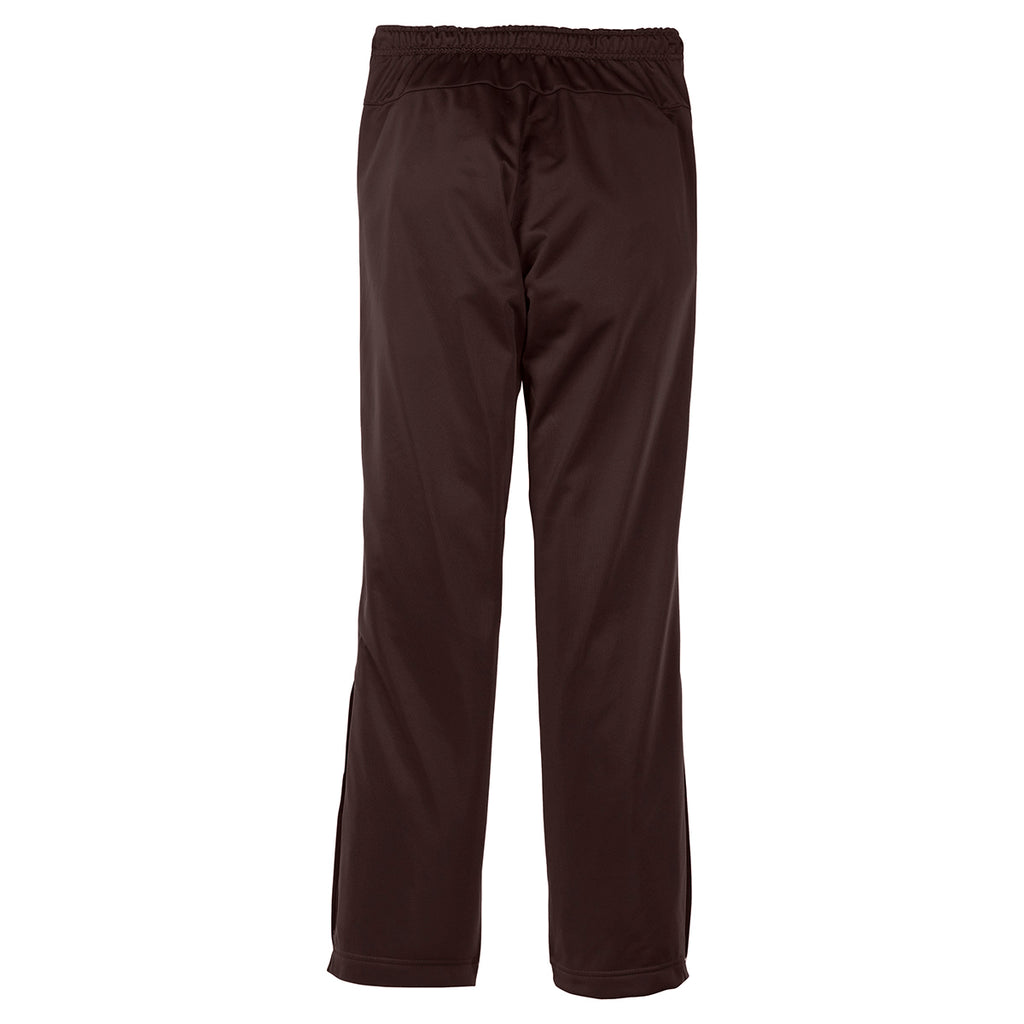 Sport-Tek Women's Dark Chocolate Brown Tricot Track Pant