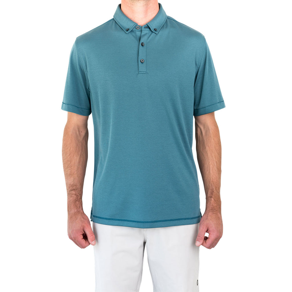 Linksoul Mens Lagoon Stanford Short Sleeve Button Down Polo