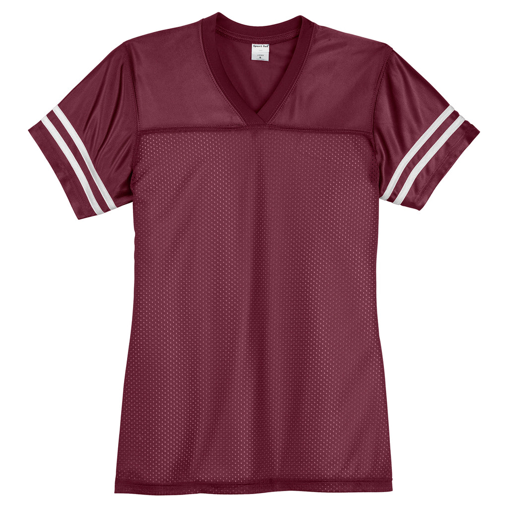 57b4fec3b Sport-Tek Women s Maroon  White PosiCharge Replica Jersey. ADD YOUR LOGO