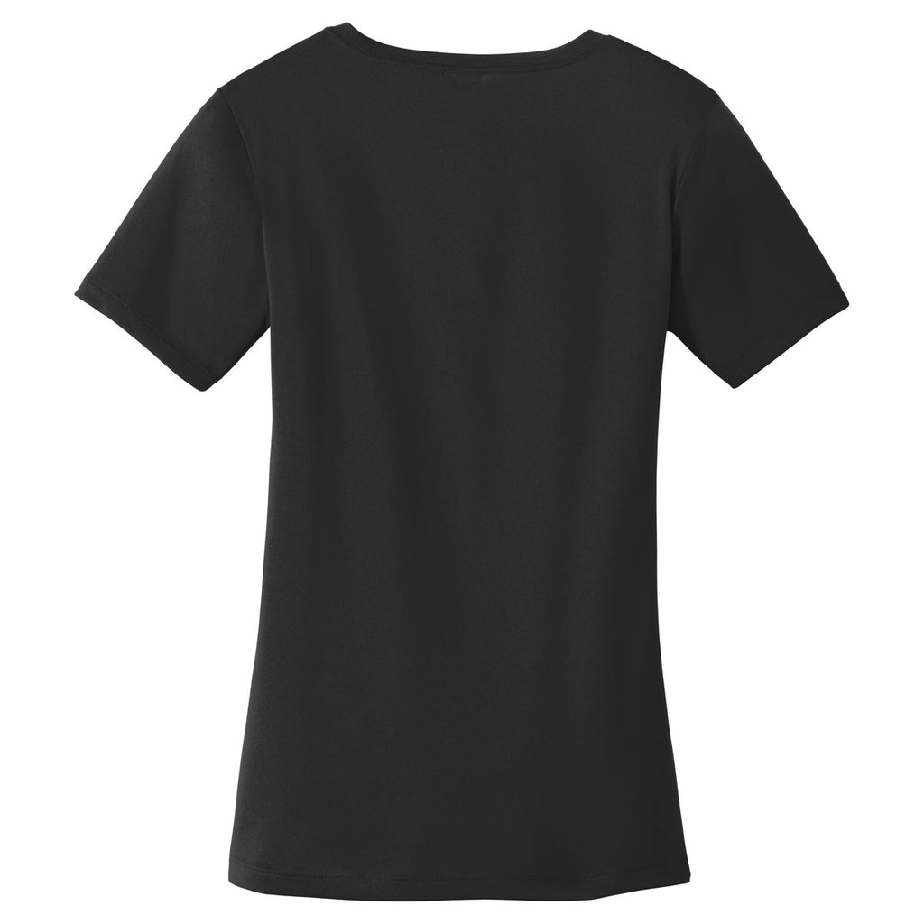 Sport-Tek Women's Black PosiCharge Tough Tee