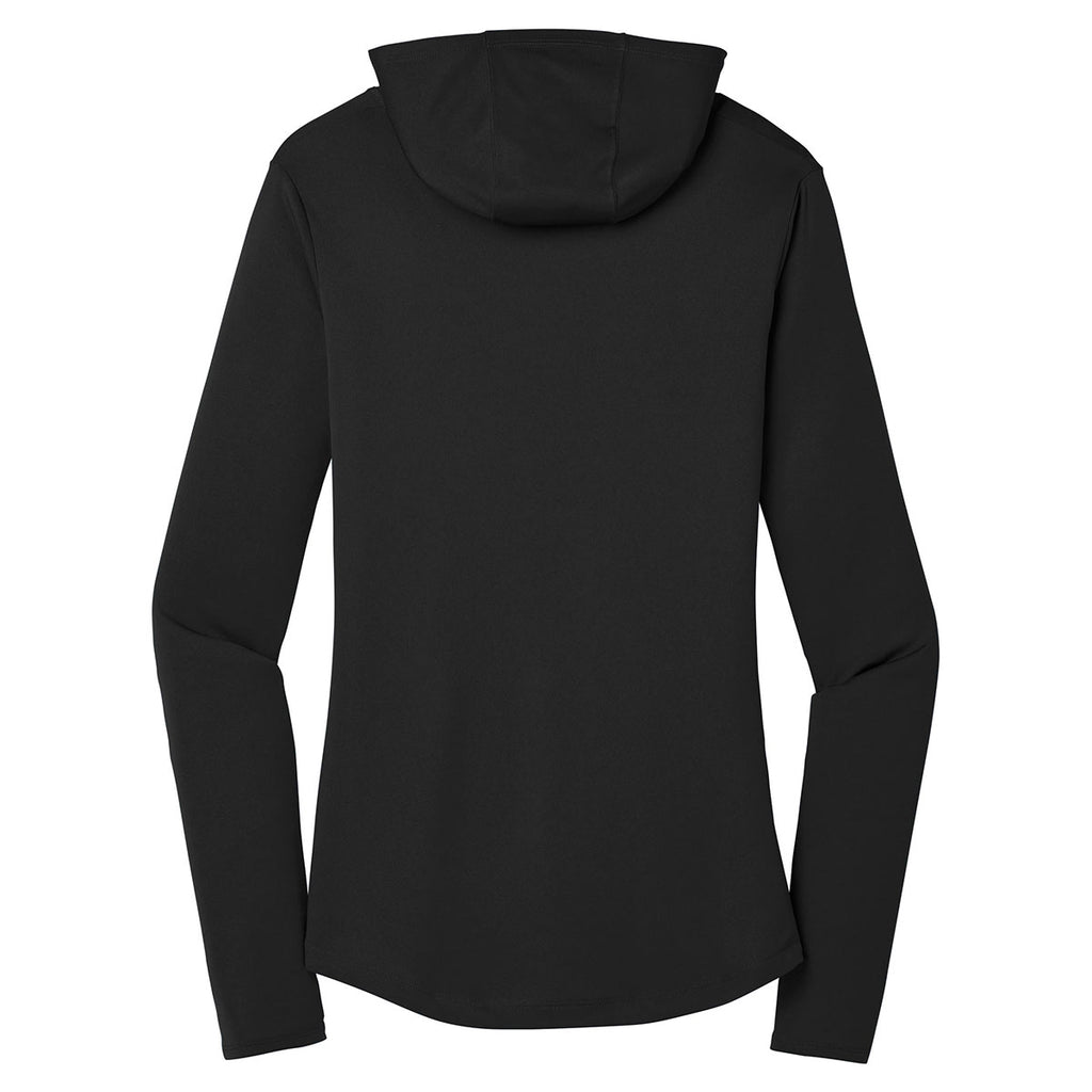 Sport-Tek Women's Black PosiCharge Competitor Hooded Pullover