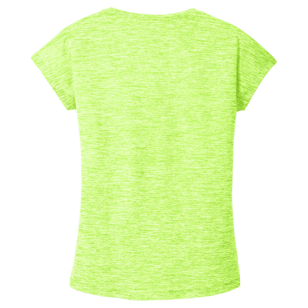 Sport-Tek Women's Lime Shock Electric PosiCharge Electric Heather Sporty Tee