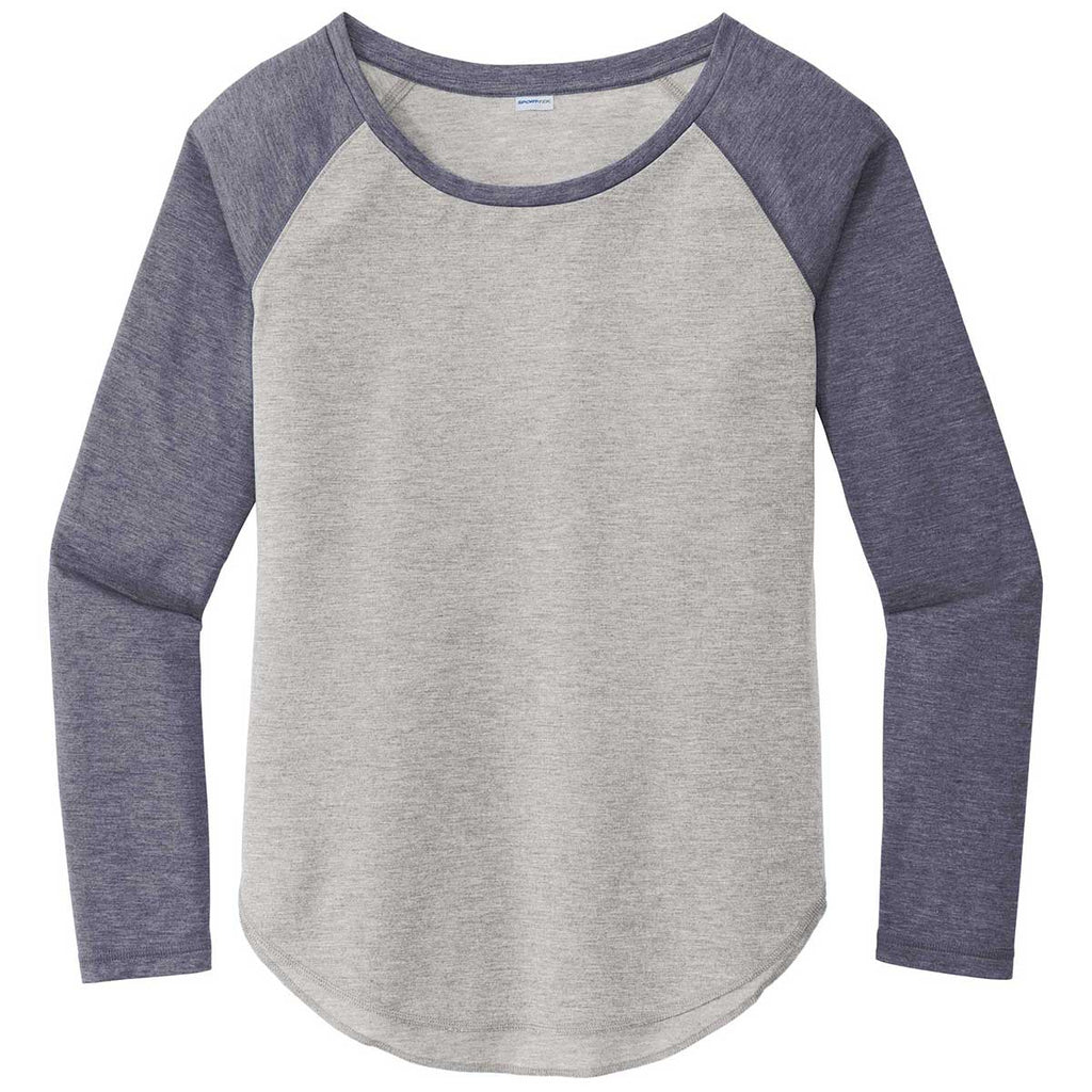 Sport Tek Women S True Navy Heather Light Grey Heather Posicharge Long Check out our sport tek tshirt selection for the very best in unique or custom, handmade pieces from our shops. merchology