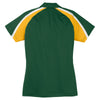 Sport-Tek Women's Forest Green/Gold/White Tricolor Micropique Sport-Wick Polo