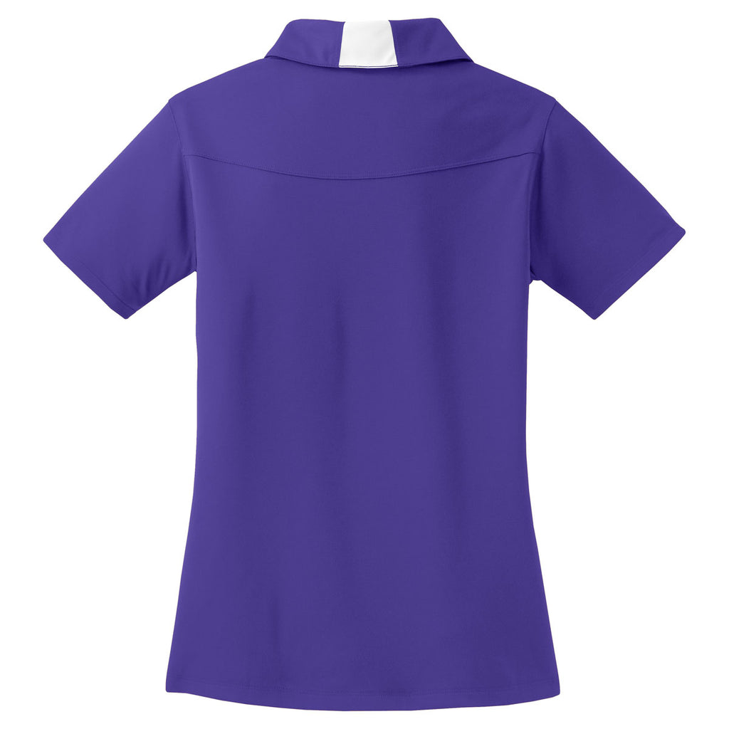 Sport-Tek Women's Purple/White Side Blocked Micropique Sport-Wick Polo