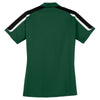 Sport-Tek Women's Forest Green/Black/White Tricolor Shoulder Micropique Sport-Wick Polo