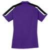 Sport-Tek Women's Purple/Black/White Tricolor Shoulder Micropique Sport-Wick Polo