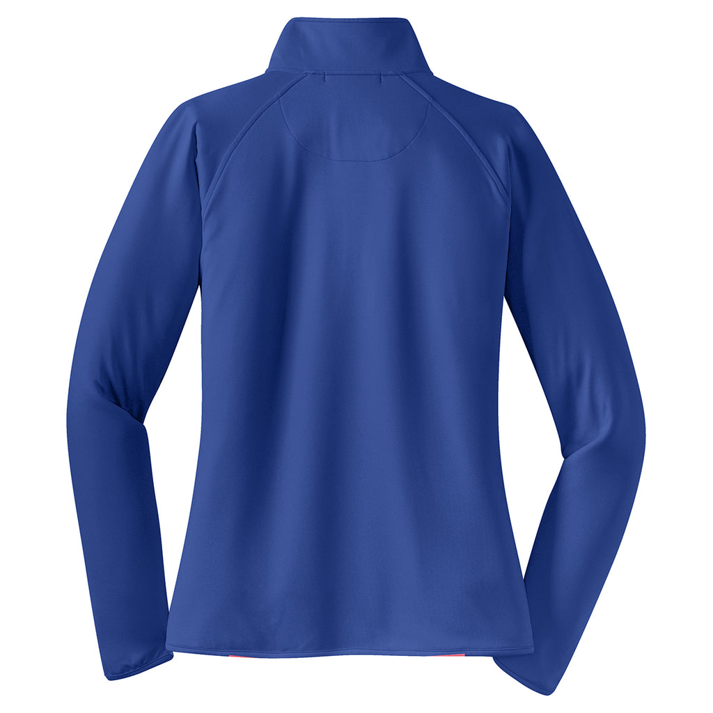 Sport-Tek Women's True Royal Sport-Wick Stretch 1/2-Zip Pullover