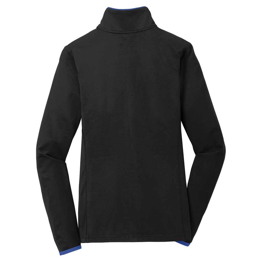 Sport-Tek Women's Black/True Royal Sport-Wick Stretch Contrast Full-Zip Jacket