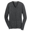 port-authority-women-charcoal-v-neck-sweater