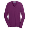 port-authority-women-purple-v-neck-sweater