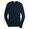 port-authority-women-navy-v-neck-sweater