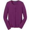 port-authority-women-purple-cardigan