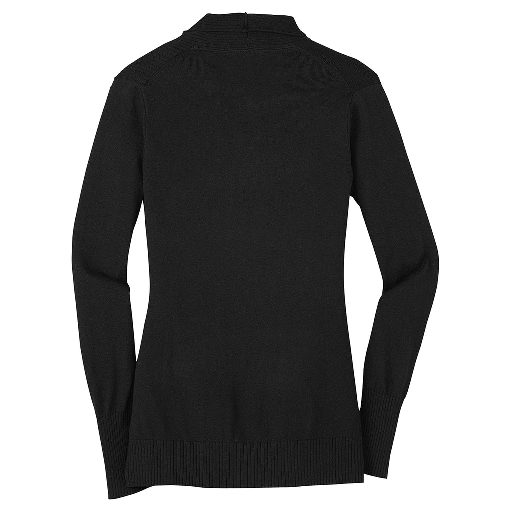 Port Authority Women's Black Open Front Cardigan Sweater