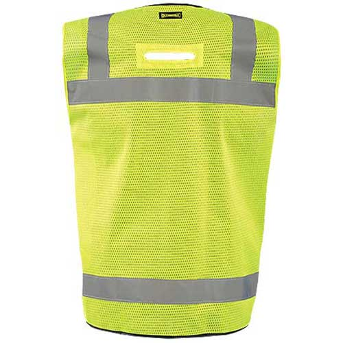 OccuNomix Men's Yellow Mesh Black Bottom Surveyor Vest with Zipper