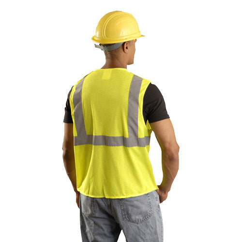 OccuNomix Men's Yellow High Visibility Classic Mesh 5-pt. Break-Away Safety Vest