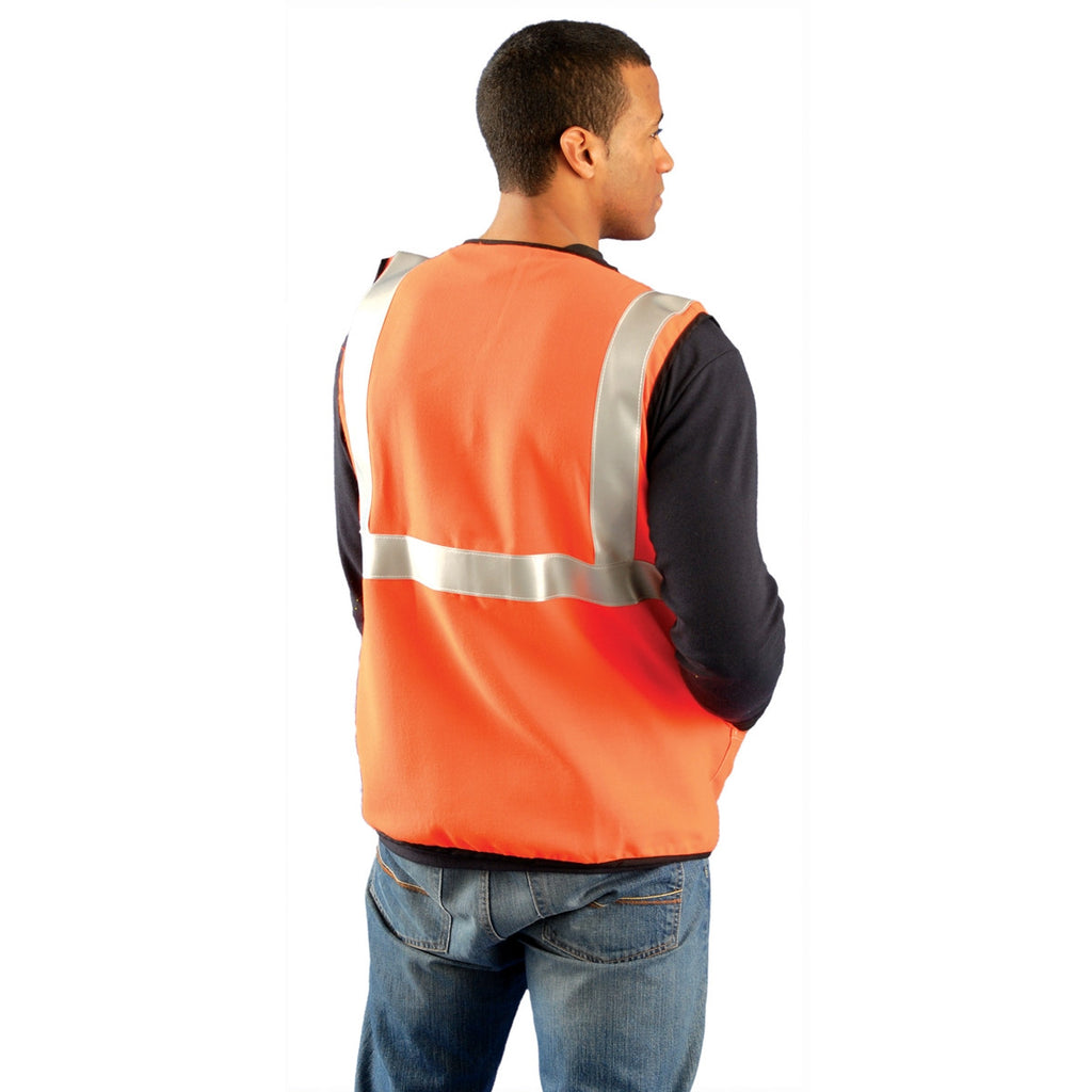 OccuNomix Men's Orange High Visibility Classic Solid Standard Safety Vest