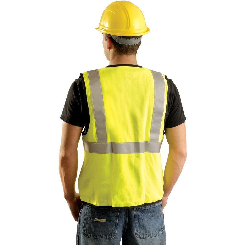 OccuNomix Men's Yellow High Visibility Classic Solid Standard Safety Vest