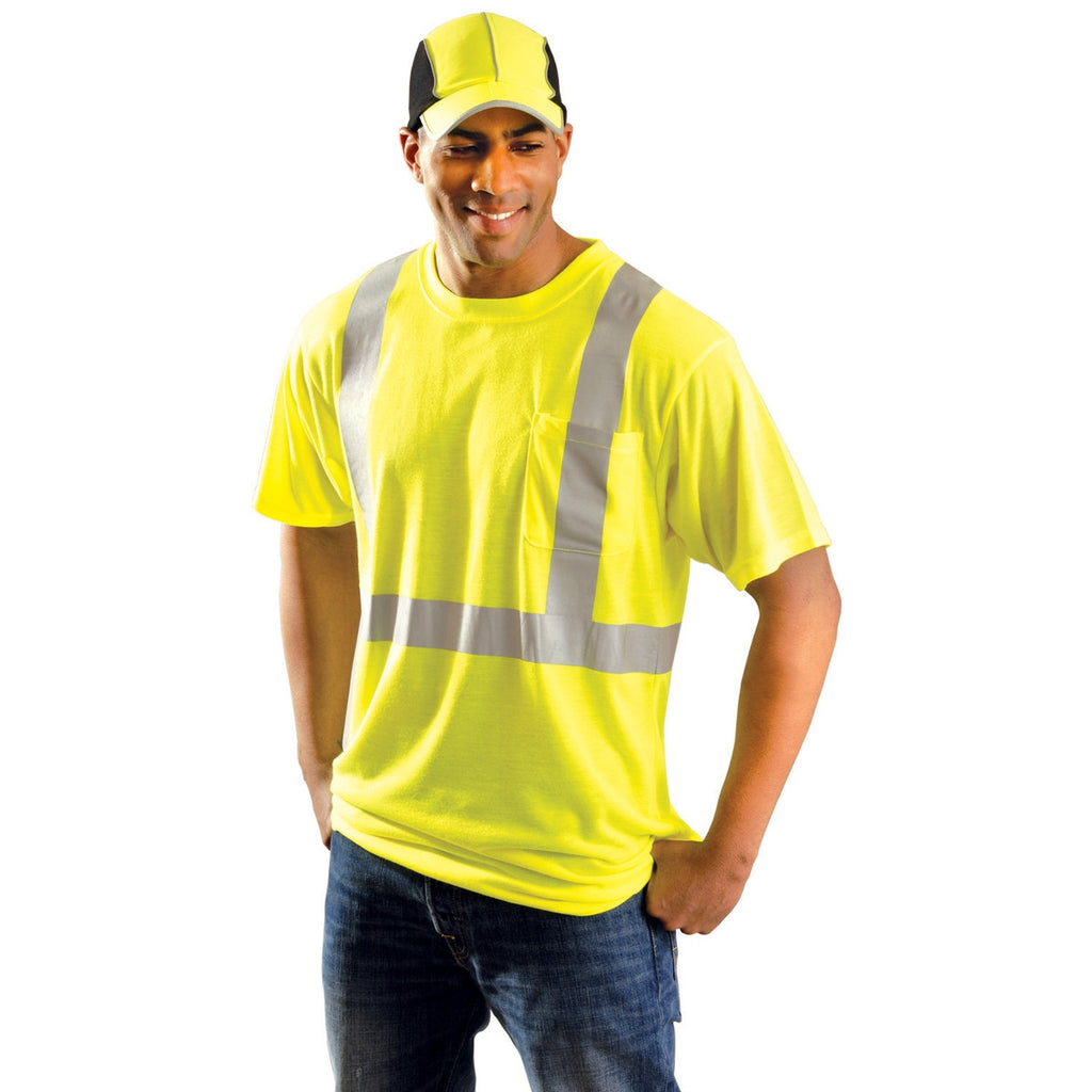 OccuNomix Men's Yellow Premium Standard Wicking T-Shirt