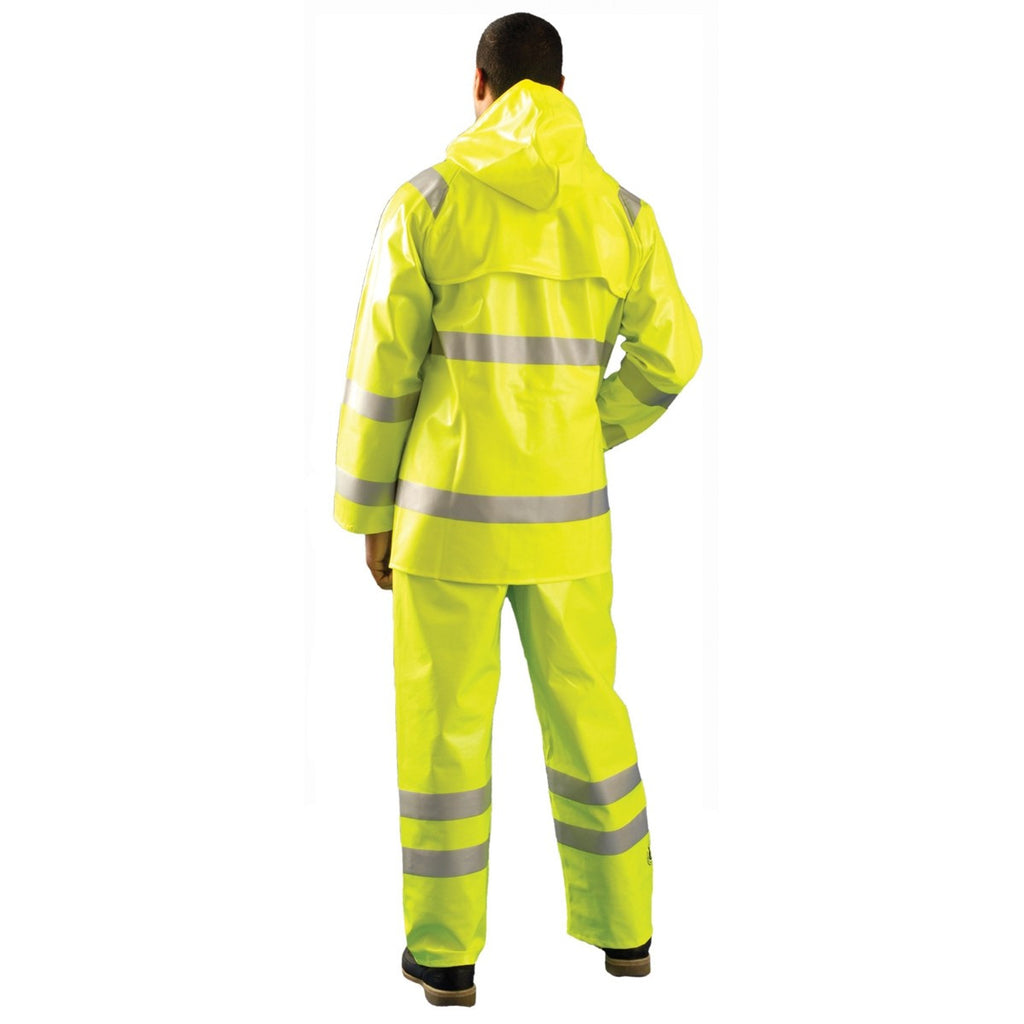 OccuNomix Men's Yellow Premium Flame Resistant Rain Jacket