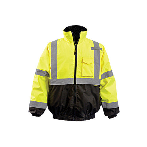 Occunomix Men S Yellow Quilted Lined Black Bottom Bomber