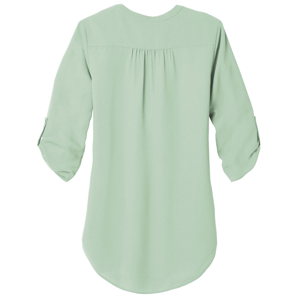 Port Authority Women's Misty Sage 3/4-Sleeve Tunic Blouse