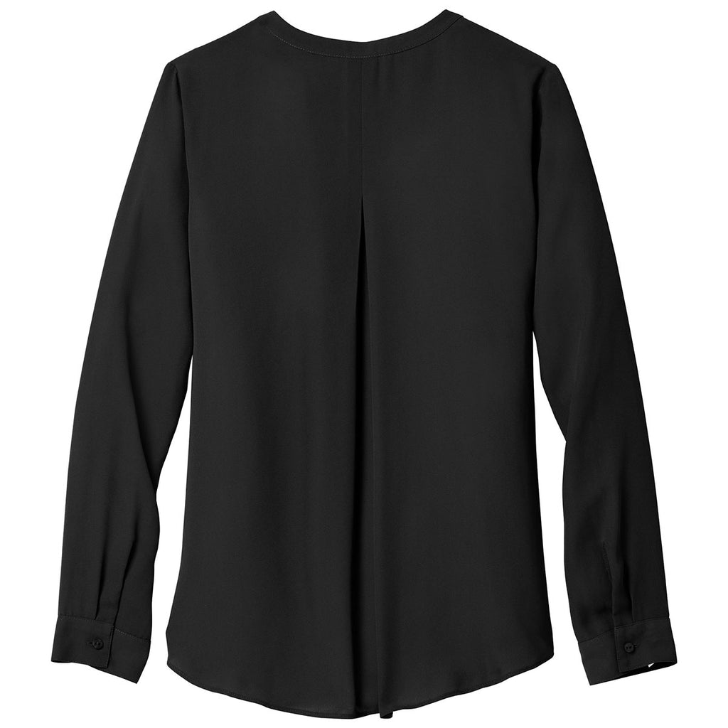 Port Authority Women's Black Wrap Blouse