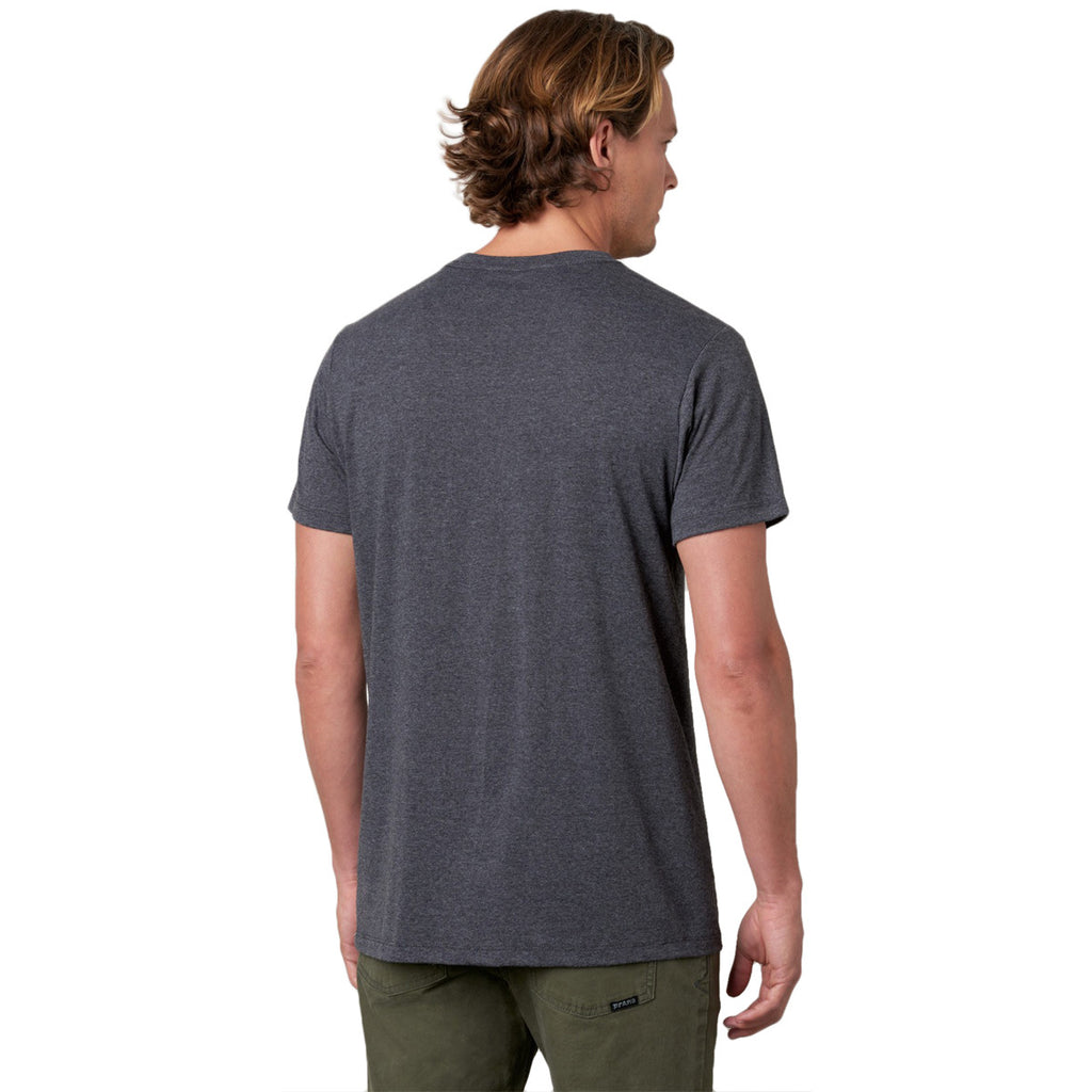 prAna Men's Charcoal Heather V-Neck T-Shirt