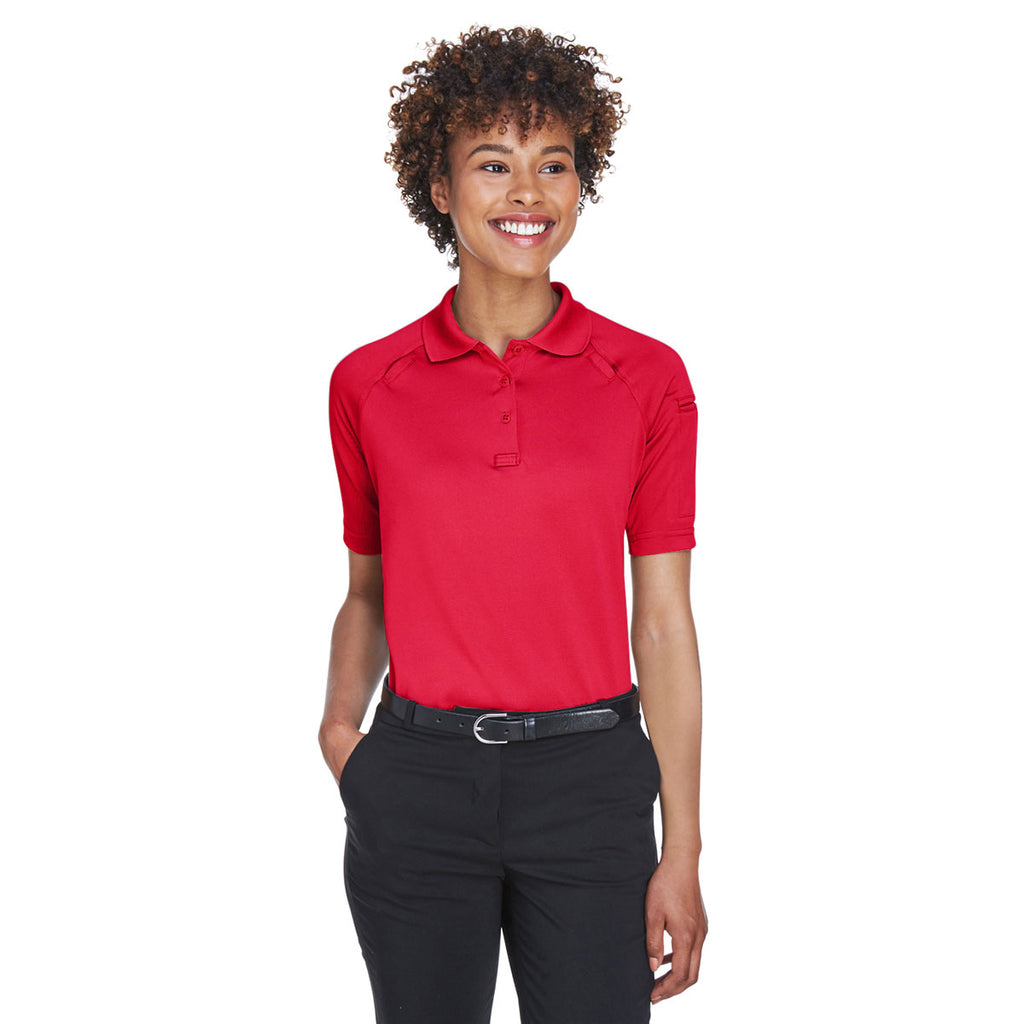 Harriton Women s Red Tactical Performance Polo. ADD YOUR LOGO 0e761dd254