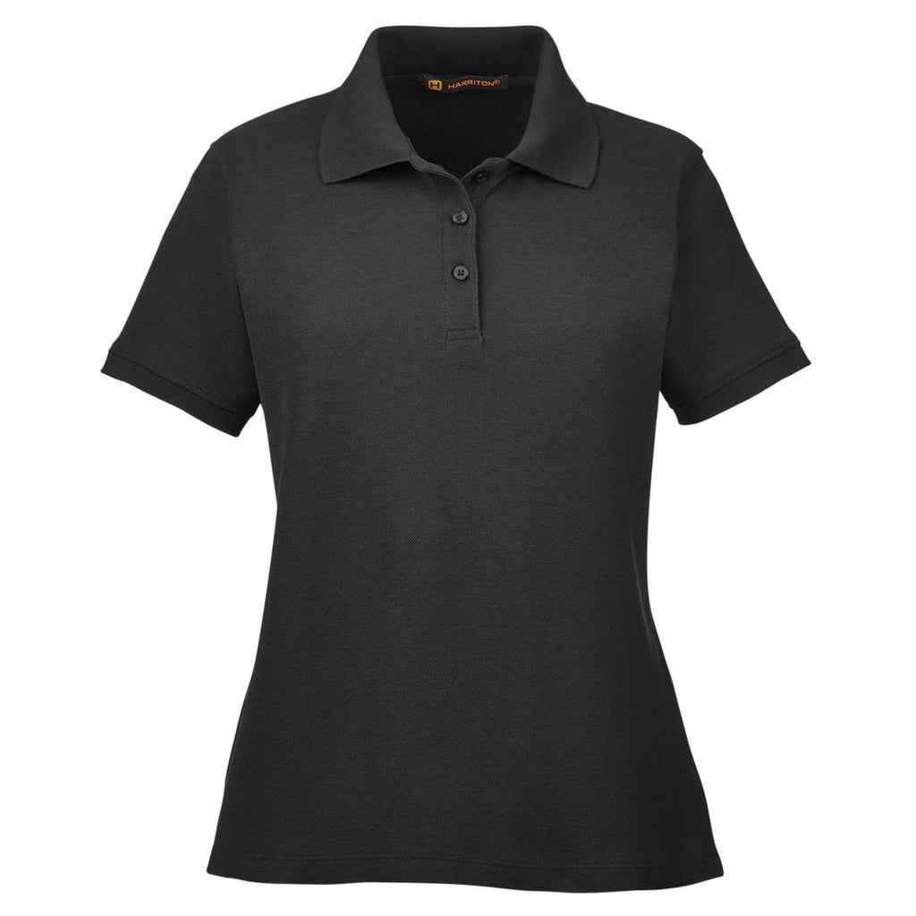 M280W Harriton Womens 5 oz WHITE Blend-Tek Polo