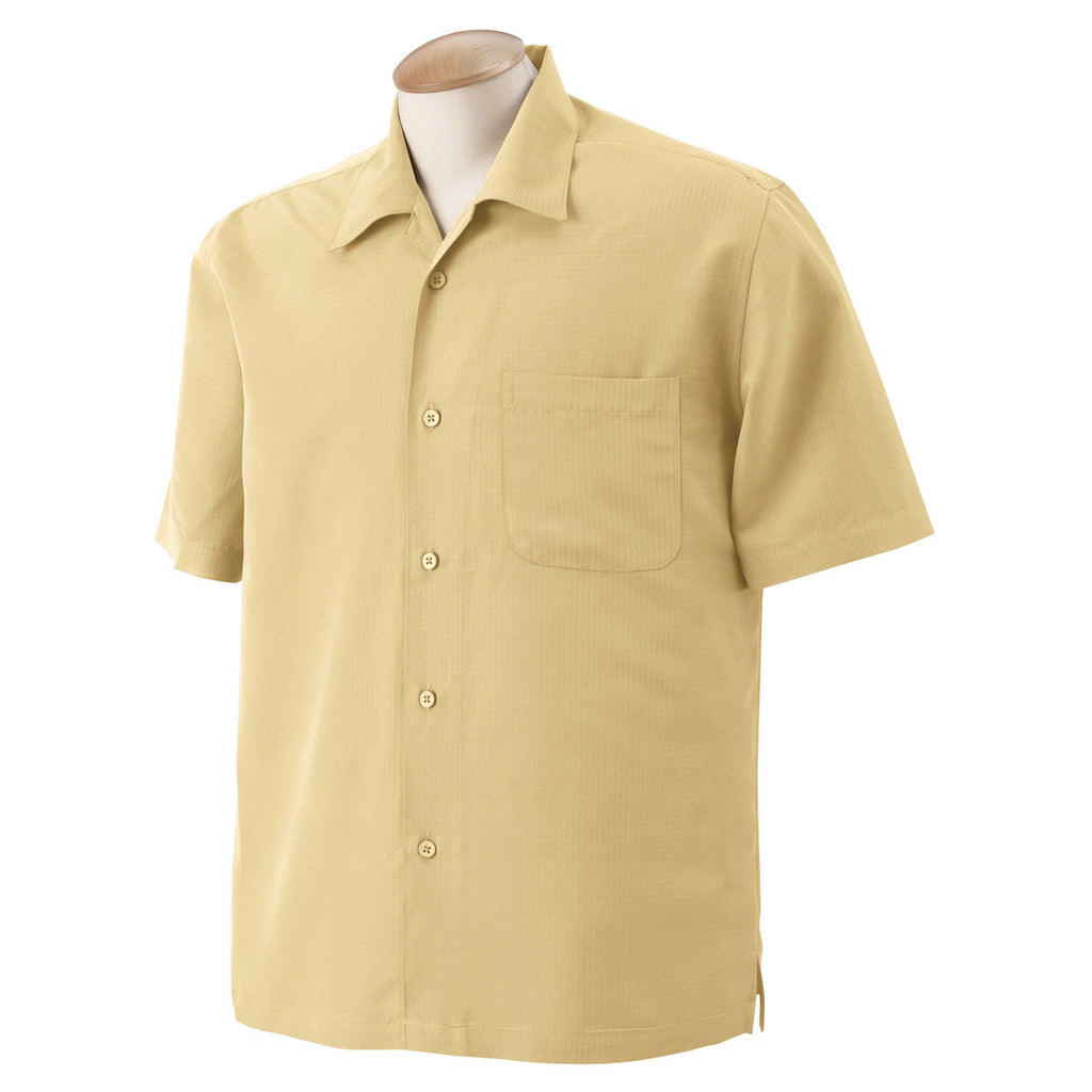 Harriton Men S Pineapple Barbados Textured Camp Shirt