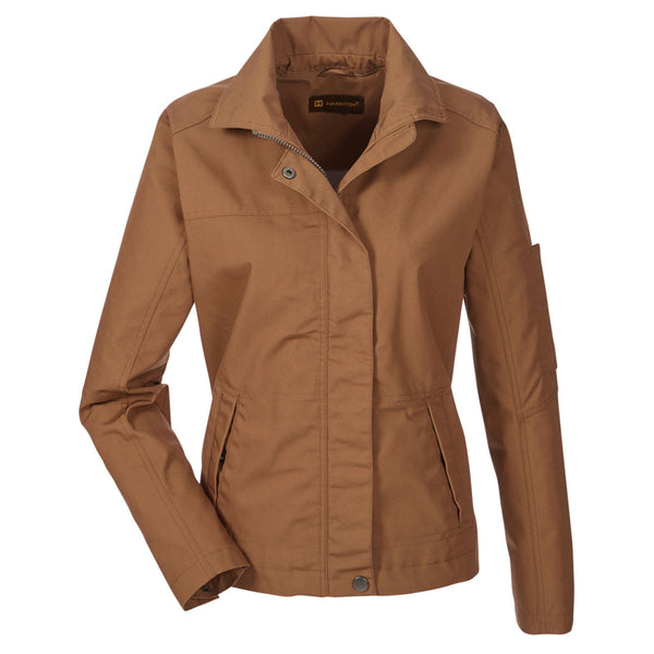 Harriton Women S Duck Brown Auxiliary Canvas Work Jacket