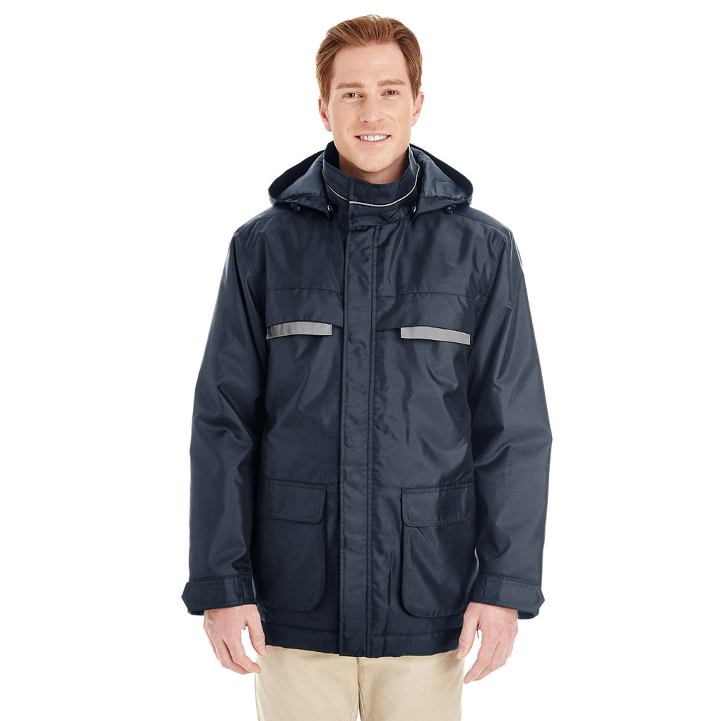 Harriton Men's Dark Navy Axle Insulated Cargo Jacket