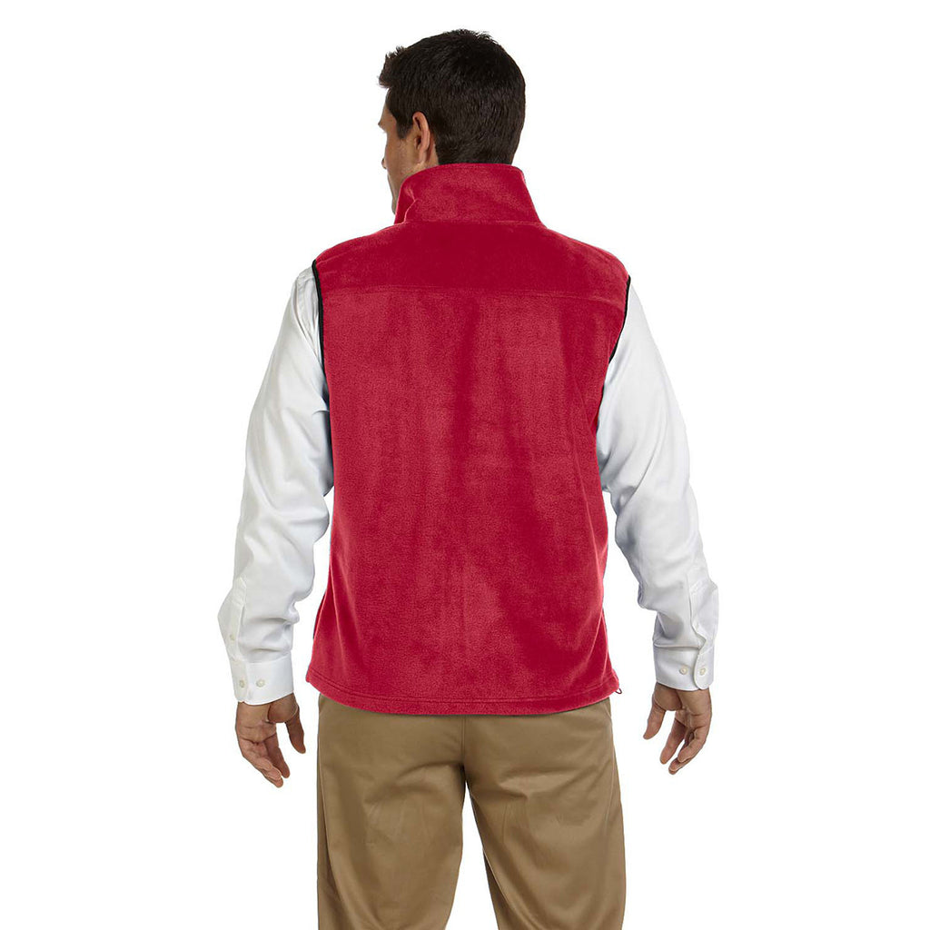 Harriton Men's Red 8 oz. Fleece Vest