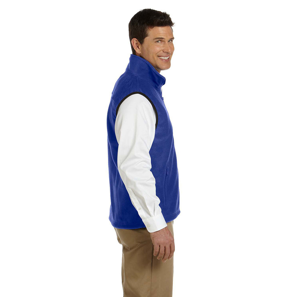 Harriton Men's True Royal 8 oz. Fleece Vest