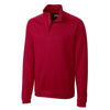 cutter-buck-red-decatur-half-zip