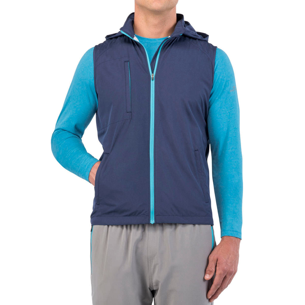 Peter Millar Men's Yankee Blue Oswald Full Zip Vest