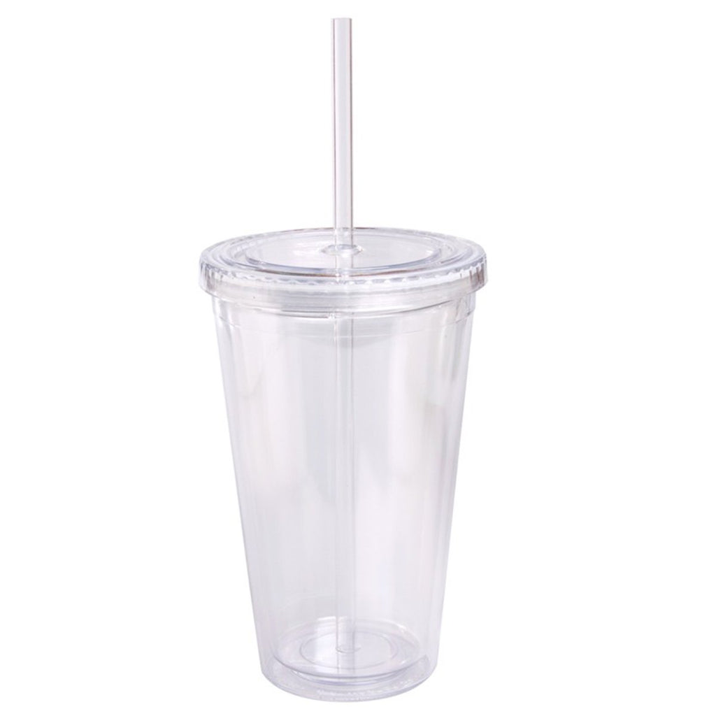Jetline Clear 16 Oz Double Wall Cool Acrylic Tumbler