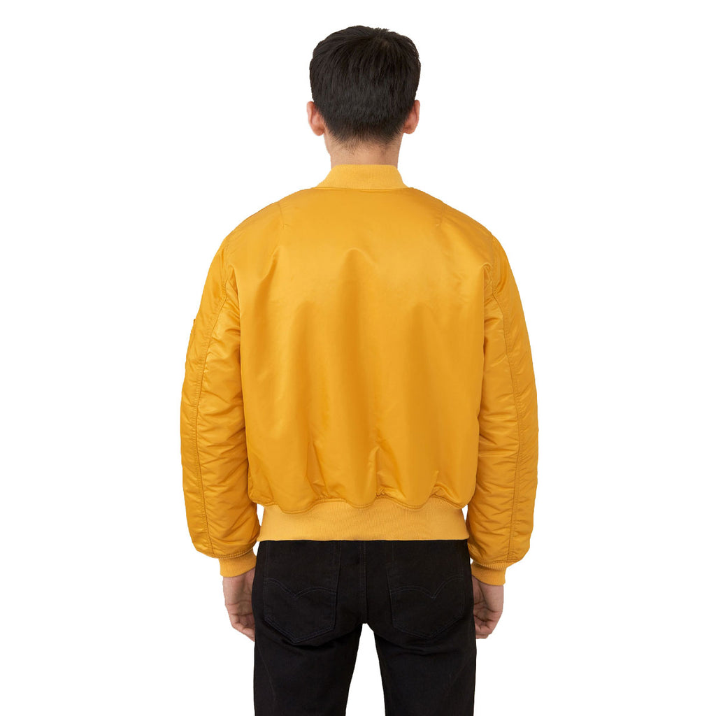 Alpha Industries Men's Golden Yellow MA-1 Flight Jacket