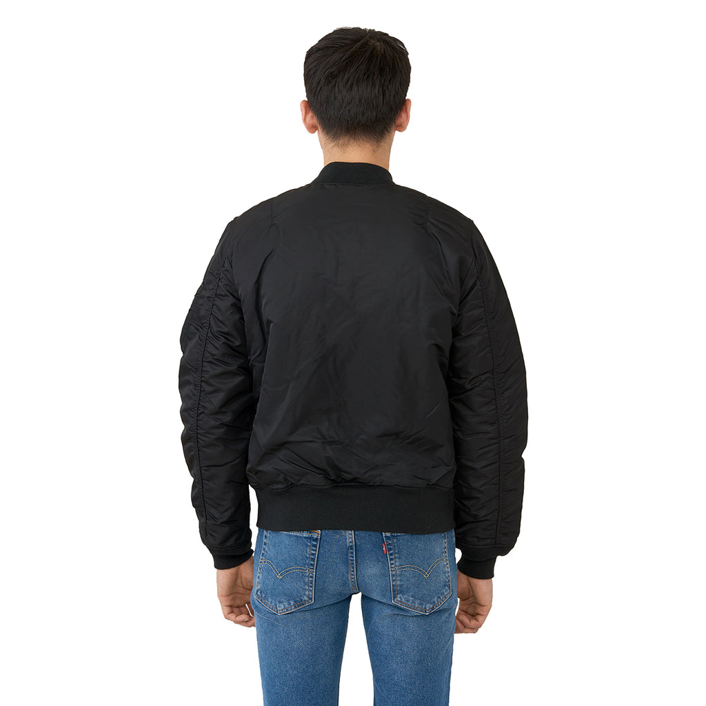 Alpha Industries Men's Black MA-1 Slim Flight Jacket