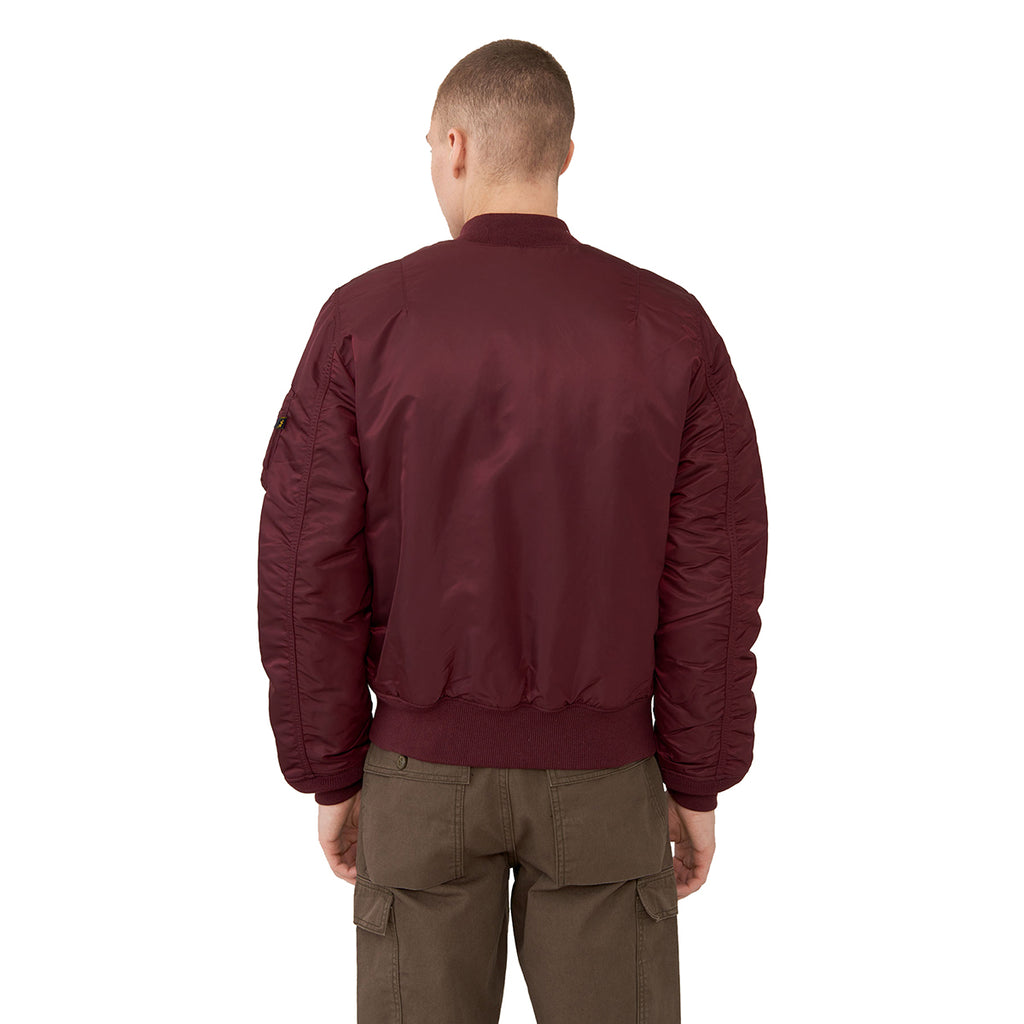 Alpha Industries Men's Maroon MA-1 Slim Flight Jacket