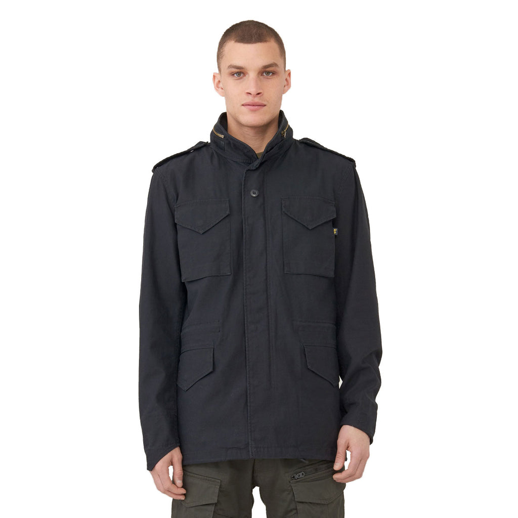 Alpha Industries Men's Black M-65 Defender Field Coat