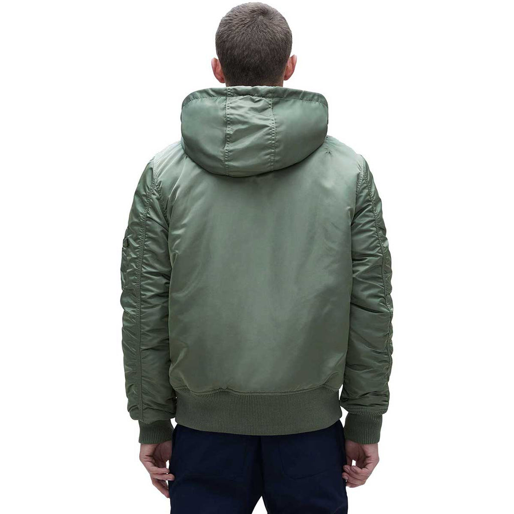 Alpha Industries Men's Sage MA-1 Hooded Rib Flight Jacket
