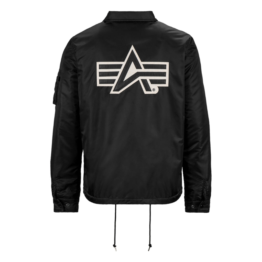 Alpha Industries Men's Black Coaches Jacket