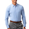 Mizzen+Main Men's Light Blue Glen Plaid McKellen Dress Shirt