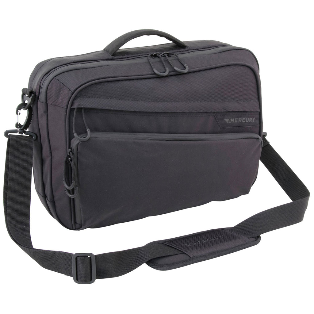 Mercury Luggage Black Laptop Messenger Bag