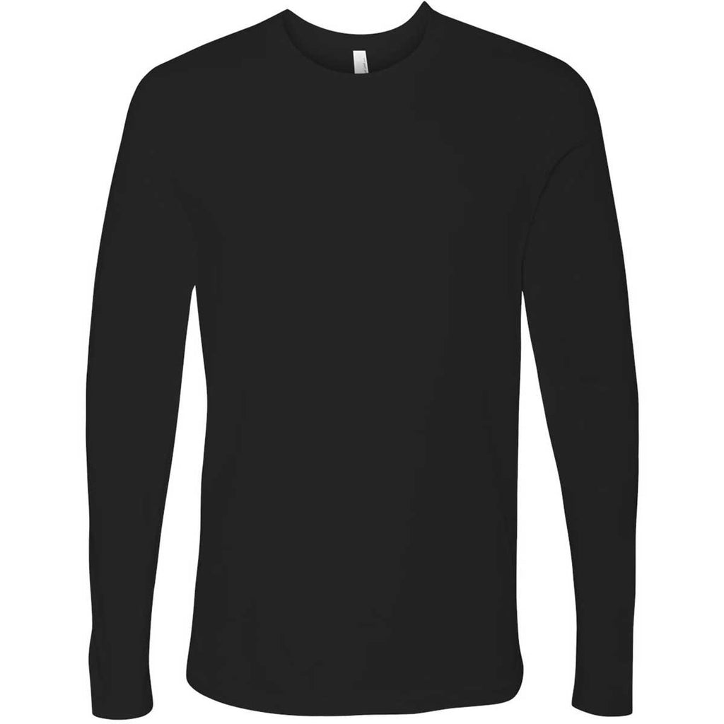 Next Level Men s Black Premium Fitted Long-Sleeve Crew Tee. ADD YOUR LOGO 673cddd295624