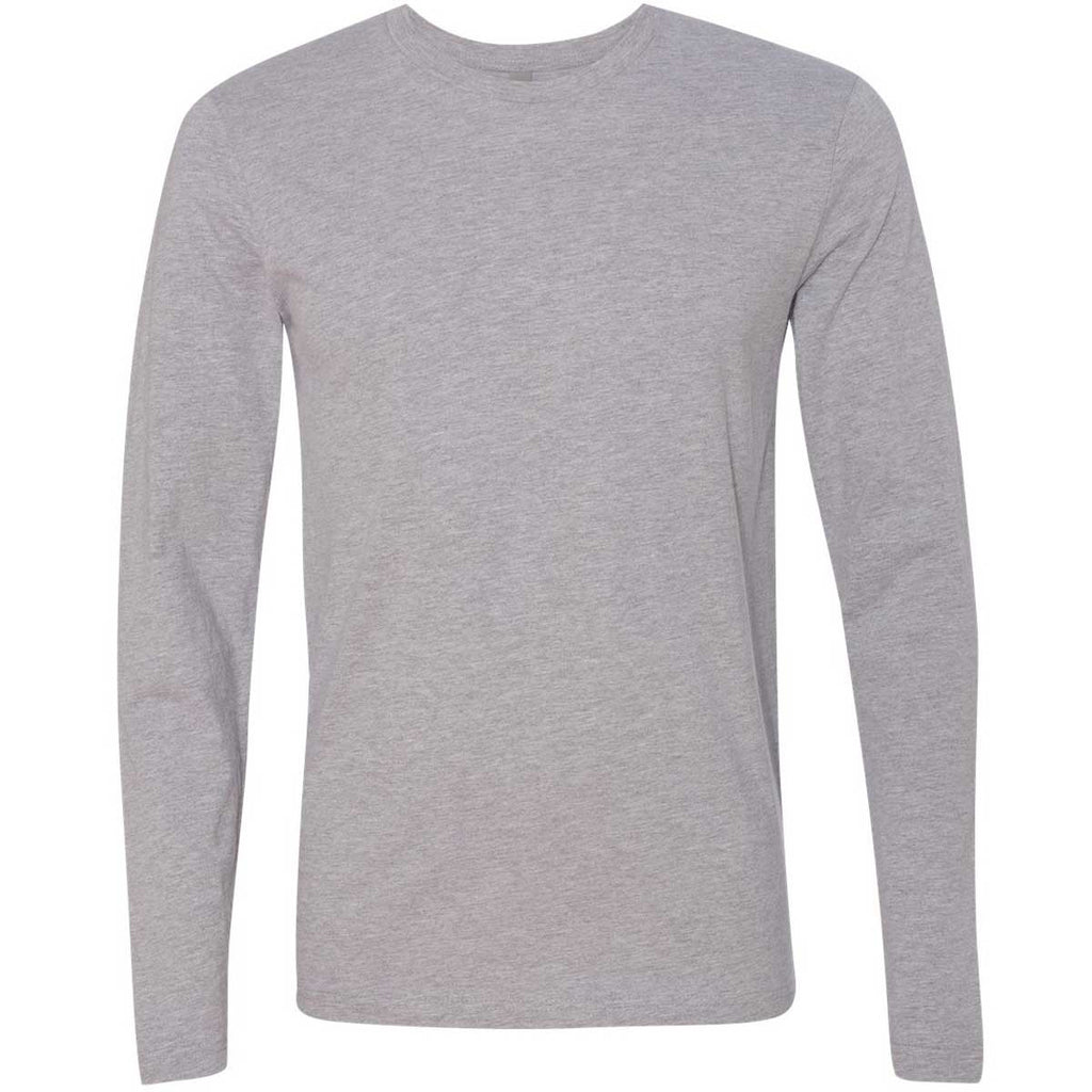 11e23cd6cf91 Next Level Men's Heather Grey Premium Fitted Long-Sleeve Crew Tee. ADD YOUR  LOGO