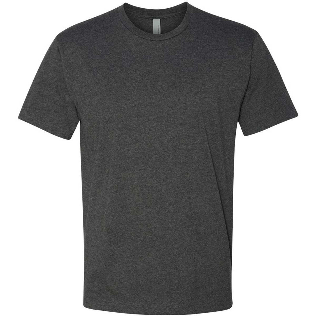 Next Level Men 39 S Charcoal Premium Fitted Cvc Crew Tee