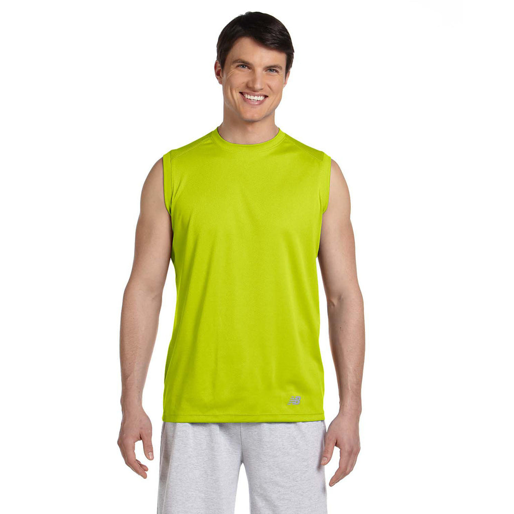 New Balance Men 39 S Safety Green Ndurance Athletic Workout T